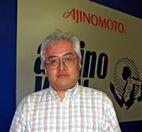 Yuichiro Nakajima, general manager of the nutraceuticals division of Ajinomoto U.S.A. Inc., says he counts on the Americans' love of sports to market the company's amino acid supplement Amino Vital. | KYODO PHOTO