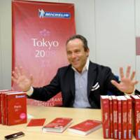 Michelin guides Director Jean-Luc Naret speaks about the famous restaurant guide during a recent interview in Tokyo's Iidabashi district.   YOSHIAKI MIURA PHOTO