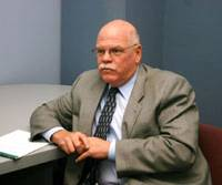 Richard Jackson, lead Los Angeles Police Department detective in the Kazuyoshi Miura murder probe, is interviewed recently in L.A. | KYODO PHOTO
