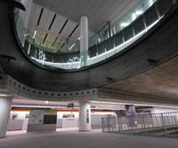 Groundbreaking: A new part of Shibuya Station for the Tokyo Metro Fukutoshin Line was designed by renowned architect Tadao Ando and has been dubbed an 'underground spaceship.' | TOKYU CO.