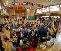 Big decision ahead: Students of an international school in Tokyo gather for an event. Some will have to choose their nationality in some 10 years if the current Nationality Law prevails. | THE JAPAN TIMES PHOTO