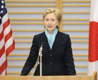 Clinton arrives in Japan ready to engage Asia