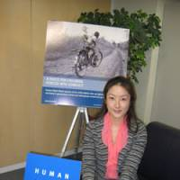 Eye on rights: Kanae Doi, Tokyo director of Human Rights Watch, is interviewed at her office last week. | ALEX MARTIN