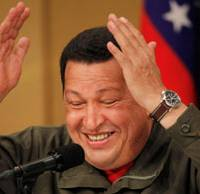 High praise: Venezuelan President Hugo Chavez holds a news conference in Tokyo on Tuesday.   AP PHOTO
