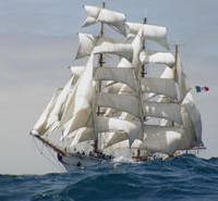 Shiver me timbers: The Mexican Navy training ship Cuauhtemoc will call at four Japanese ports later this month to celebrate four centuries of friendly ties. | MEXICAN EMBASSY/KYODO PHOTO