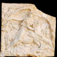 Property of the state: Italian authorities seized this recently discovered ancient Roman marble relief before it could be sold to a Japanese art collector. | ITALIAN CULTURAL MINISTRY/KYODO PHOTO