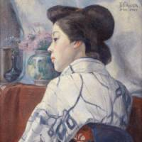 Leonardesque: A 1909 recently discovered oil painting by Tsuguharu Fujita (1886-1968), also known as 'Leonard Foujita,' will be put on display at the Tokyo University of the Arts from July 4. | KYODO PHOTO
