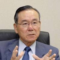Long-term view: Kenzo Oshima, senior vice president of the Japan International Cooperation Agency, is interviewed at JICA's head office in Shibuya Ward, Tokyo. | YOSHIAKI MIURA PHOTO