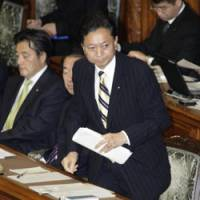 Grilling: Prime Minister Yukio Hatoyama prepares to answer questions from lawmakers Thursday in the Upper House. | KYODO PHOTO