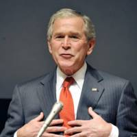 Bush talks to Waseda about his life — in world of sports