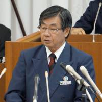 Nago mayor starts policy speech with antibase stand