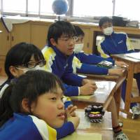 Generation zero: A class of sixth-graders studies English at Kawauchi Elementary School in Fukushima Prefecture on Feb. 20. | MIZUHO AOKI