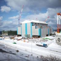 Work in progress: The construction site for the Oma nuclear plant is seen in Aomori Prefecture Feb. 26. | THE WASHINGTON POST