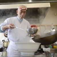 Ramen chef, 75, rebuilds by example