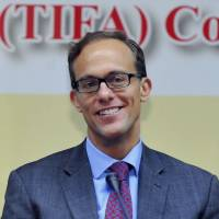 Hard taskmaster: Deputy U.S. Trade Representative Demetrios Marantis attends a meeting of the Trade and Investment Framework Agreement in Taipei on March 9. | AFP-JIJI