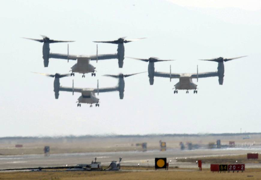 Another 12 Ospreys headed to Japan in July, bound for Futenma