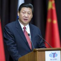 Guest speaker: Chinese President Xi Jinping addresses students from the Moscow State University for Foreign Relations on Saturday. | AP