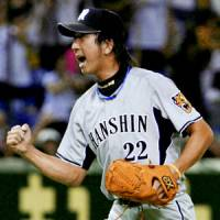 The Hanshin Tigers have relied on reliever Kyuji Fujikawa to help stage an incredible rally to the top of the Central League standings. | KYODO PHOTO