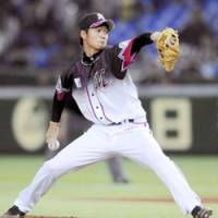 Solid start: Chiba Lotte Marines pitcher Yuki Karakawa has posted a 3-0 record in the first two months of his rookie season. | KYODO PHOTO