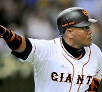 Prime-time player: Giants star Alex Ramirez is putting up MVP-type numbers this season, but has saved his best performances for games against his former team, the Tokyo Yakult Swallows. | KYODO PHOTO