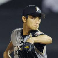 Dependable hurler: Right-hander Yu Darvish led the Hokkaido Nippon Ham Fighters with 16 victories this season. He is the team's Game 1 starter in the Pacific League Climax Series on Saturday against the host Orix Buffaloes. | KYODO PHOTO