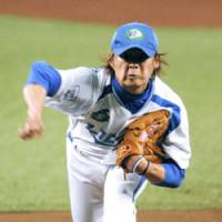 Playoff gem: Lions right-hander Hideaki Wakui tosses a three-hit shutout in Game 5 of the Pacific League Climax Series' second stage against the Fighters on Wednesday. Seibu earned a trip to the Japan Series for the time since 2004. | KYODO PHOTO