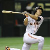 Missed opportunity: Slugger Michihiro Ogasawara and the Giants fail to win the Japan Series title on Saturday, losing 4-1 to the Lions. But Yomiuri can capture the championship with a victory in Game 7 on Sunday at Tokyo Dome. | KYODO PHOTO