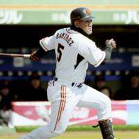 Big Daddy: Reigning CL MVP Alex Ramirez will play a big role for the two-time defending Central League champion Yomiuri Giants this season. | KYODO PHOTO