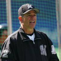 Water off a duck's back: Chiba Lotte Marines manager Bobby Valentine is going about his business as normal despite the various goings-on at his club. | AP PHOTO