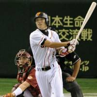 Standard bearer: An All-Star before his 20th birthday, Hayato Sakamoto has set the bar high for all future teenagers who are lucky enough to reach the ichi-gun level with the Yomiuri Giants. | KYODO PHOTO