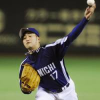 Still unbeaten: Dragons southpaw Yudai Kawai improves to 11-0 by pitching seven solid innings on Thursday against the Giants at Tokyo Dome. Chunichi defeated Yomiuri 5-3. | KYODO PHOTO