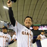 Strong leader: Manager Tatsunori Hara has guided the Yomiuri Giants to three straight Central League pennants. | KYODO PHOTO
