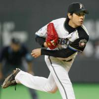 Play with the guys you've got: The Hokkaido Nippon Ham Fighters are expecting pitcher Masaru Takeda and others to step up in the absence of ace Yu Darvish. | KYODO PHOTO