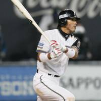 Big stick: Atsunori Inaba's success at the plate for the Hokkaido Nippon Ham Fighters in games at Tokyo Dome this season could be a factor in the Japan Series. | KYODO PHOTO