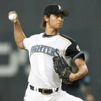 The harder they come: Nippon Ham's Yu Darvish excelled despite going into Game 2 of the Japan Series at 'about 50 percent' of his physical capacity. | KYODO PHOTO