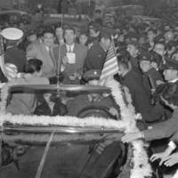 Man of influence: Tsuneo 'Cappy' Harada, seen here riding with Joe DiMaggio on a visit to Tokyo in 1950, was a significant figure in the development of U.S.-Japan baseball relations following World War II. He died at the age of 88 last month in California. | AP PHOTO