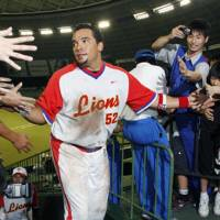 Part of the furniture: Jose Fernandez is back for a second stint with the Saitama Seibu Lions, the latest stop in his eight seasons in Japanese baseball. | KYODO PHOTO