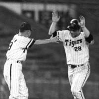 Incredible: Yutaka Enatsu's sayonara home run to win his own 11-inning no-hitter against the Chunichi Dragons on Aug. 30. 1973, tops Robert Whiting's list of top feats in NPB history. | KYODO PHOTO