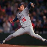 Opening the door: Pitcher Hideo Nomo shook up Japanese baseball with his 'retirement' and subsequent move to the Los Angeles Dodgers in 1995. | AP PHOTO