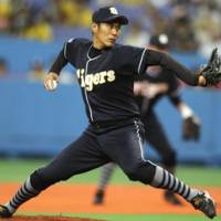 Strong campaign: Hanshin's Yasutomo Kubo won 14 games for the Tigers during the regular season. He will likely see action in the first stage of the Climax Series against the Yomiuri Giants, which begins on Saturday. | KYODO PHOTO