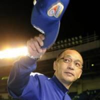 Not good enough: Hiromitsu Ochiai wasn't able to guide the Chunichi Dragons to another Japan Series crown.   KYODO PHOTO