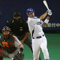 Recognition: Dragons veteran Kazuhiro Wada batted .339 with 37 homers and 93 RBIs this season and earned the Central League's MVP award. | KYODO PHOTO