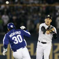 Work to do: Troubles selling TV rights to the 2010 Japan Series had to worry NPB officials. | KYODO PHOTO