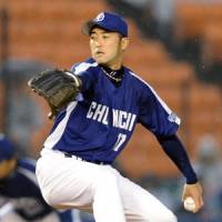 Fall classic revisited: Dragons southpaw Yudai Kawai competes against the Marines, Chunichi's 2010 Japan Series foe, on Tuesday in the series opener at QVC Marine Stadium.   KYODO