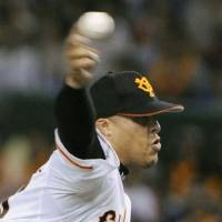 Welcome back: Dicky Gonzalez has thrown 14 scoreless innings since returning from a calf injury earlier this month.   KYODO PHOTO