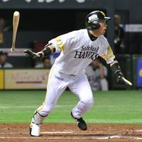 Moving forward: Yuya Hasegawa and the Hawks moved on from last season's failure by reaching the Japan Series this year. | KYODO PHOTO