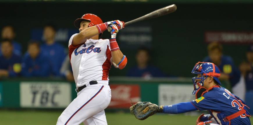 Cuba belts four homers, crushes Taiwan in mercy rule-shortened game