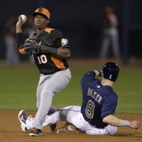 Late to the party: Highly rated infielder Jurickson Profar is enjoying his time at the 2013 World Baseball Classic after joining the Netherlands team after the second round as a replacement for an injured player. | AP