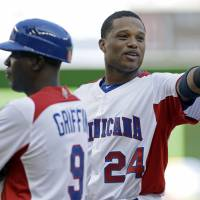 Star turn: New York Yankees infielder Robinson Cano has been a big influence for the Dominican Republic at the 2013 WBC. | AP