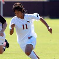 Mami Yamaguchi, a finalist for the 2007 MAC Hermann Trophy, was named a First-Team All-American by the National Soccer Coaches Association of America on Sunday.   LARRY NOVEY PHOTO